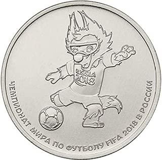 FIFA 2018, Zabivaka. Commemorative Coin. 25 rubles, 2018. Russian Coins