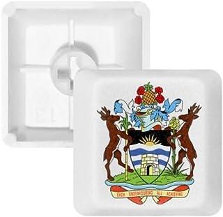 Saint John 's Antigua y Barbuda emblema teclas PBT para teclado mecánico Blanco OEM sin impresión de marcado, Multicolor, R2