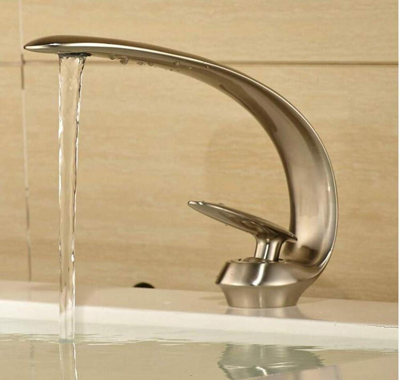 Retro Wasserhahn Loch Sitzen Wasserhahn Bad Becken Wasserhahn Nickel Gebürstet Waschbecken Mischbatterie