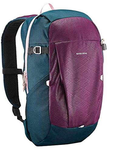 NEW CONFORT BACKPACK 20L Plum, 2 zipped pockets, 2 compartments. 2 bottle holder and 2 foam pads. Quechua
