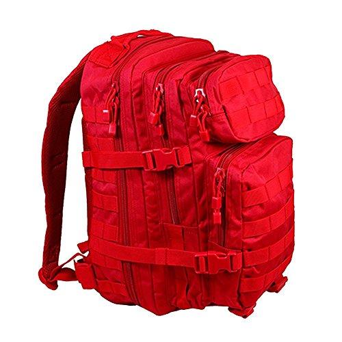 Mil-Tec EE.UU. Mochilla Assault Pack (Small/Rojo)