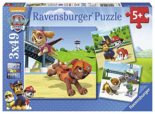 Ravensburger Kinderpuzzle 09239 - Team auf 4 Pfoten - 3 x 49 Teile