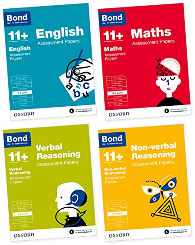 Bond 11+: English, Maths, Verbal Reasoning, Non-verbal Reasoning: Assessment Papers: 8-9 years Bundle