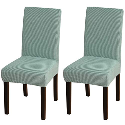 Turquoize Chair Covers For Dining Room Dining Chair Covers Set Of 2 Stretch Dining Chair Slipcover Parsons Chair Covers Removable Chair Protector Covers For Dining Room, Hotel, Ceremony (2, Dark Cyan)