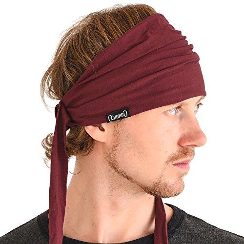 Charm Casualbox Pre Legato Headband Stravagante Capelli Fascia Estate Uomo Da Donna Testa Incarto Hippie Rosso Granato