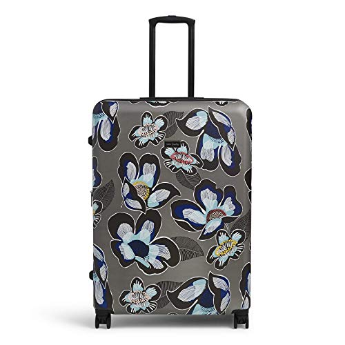 Vera Bradley Women's 29' Hardside Rolling Suitcase Luggage, Grand Blooms Shower, Check in