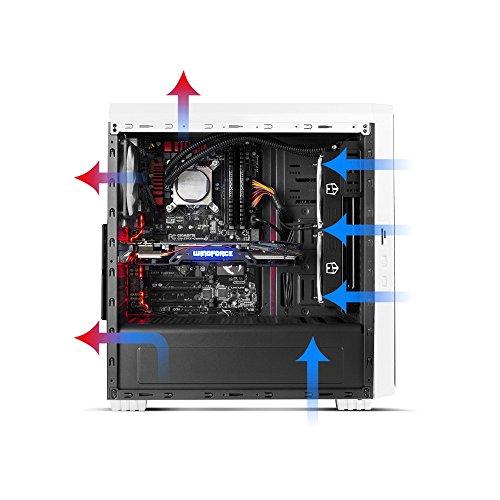 Nox Hummer ZSZ - NXHUMMERZSZ - Semitorre ATX, ventana lateral transparente, opción para refrigeracion liquida, 2 ventiladores 120mm incluidos, lector de tarjetas SD/micro SD, color blanco