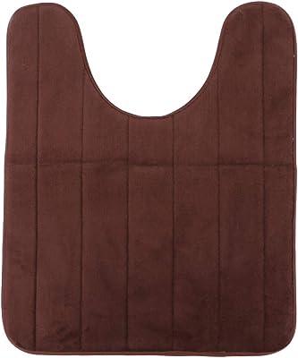 Vosarea 50x60 U Shape Bathroom Soft Thicker Cotton Toilet Seat Cover Pads (Coffee)
