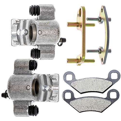 NICHE Front Left Right Brake Caliper Pad Set for 1990-2000 Polaris Scrambler Trail Big Blazer Xplorer Magnum 250 300 400