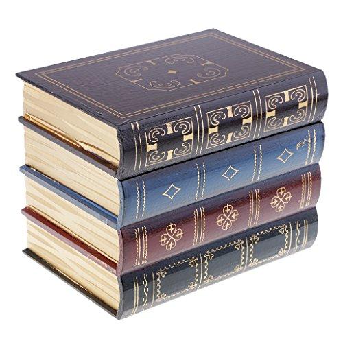 MagiDeal Buch Typ Schmuckschatulle Hölzerne Schmuck Aufbewahrungsbox Schmuckkästen Wohnaccessoires und Deko - L