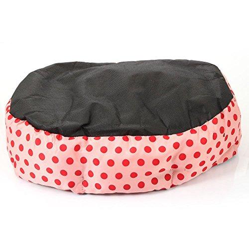 Ecloud Shop® De Petits Points octogonales chenil Velours Super Doux Teddy Fossa Chat Animal nid Rose