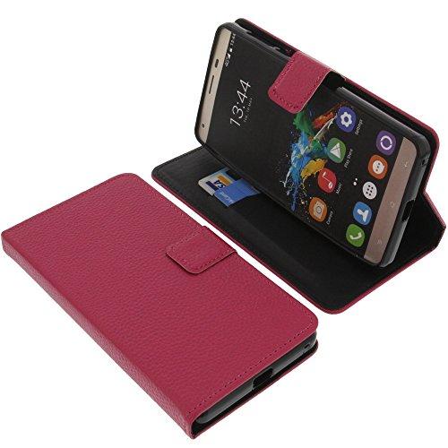 foto-kontor Tasche für Oukitel K6000 Pro Book Style pink Schutz Hülle Buch