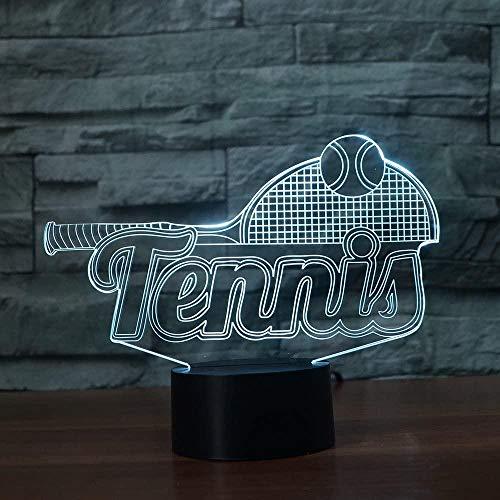 Optische illusions lampen 3d illusion Tennisschläger Nachttischlampen für Kinder Weihnachten Geburtstag Beste Geschenk Spielzeug (Fernbedienung) - Stil 843