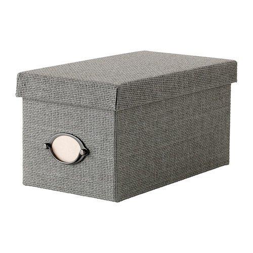 IKEA(イケア) KVARNVIK ふた付きボックス グレー