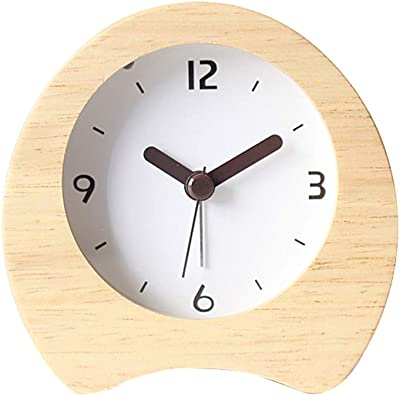 Steaean Despertador de Madera Reloj Creativo Mode Colgante ...