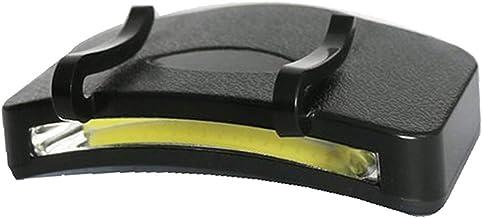 2 PCS Braçadeira À Prova D 'Água Lâmpada Lâmpada Brilhante Lâmpada Mini Mãos Livres COB Clipe na Luz Cap para Caminhadas A...