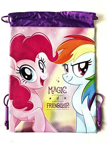 My Little Pony Wallet-Passport Bag- String Sling Tote Bag Backpack (PURPLE SLING BAG)