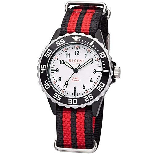 Regent robuste Uhr für Kinder und Jugendliche schwarz/rot BA-384
