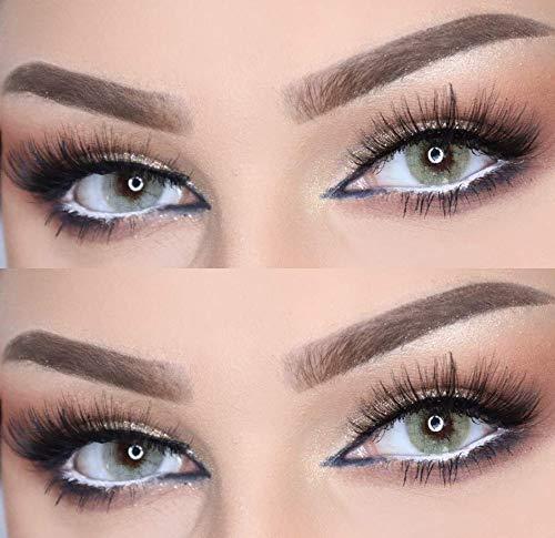 Farbige Kontaktlinsen DUBAI NIGHTS die schönsten Farblinsen für orientalische, braune Augen ohne Stärke (Quartz)