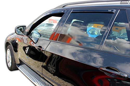 J&J AUTOMOTIVE Windabweiser Regenabweiser für X5 E70 5-türer 2006-2013 4tlg HEKO dunkel