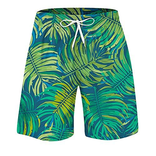 BIBOKAOKE Badbyxor herr stor storlek sommarbyxor mode 3D ananas frukt tryckt badbyxor lös surfing byxor strandshorts andningsförmåga boardshorts fritid jogging sportbyxor dykshorts
