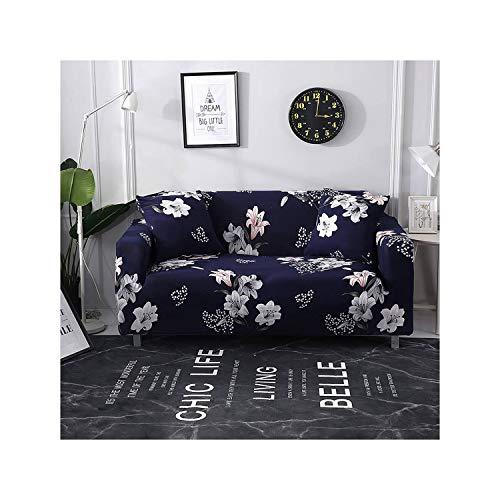 HGblossom Blumendrucken Elastic Sofa Abdeckungen für Wohnzimmer Sofa Handtuch rutschfest-Sofa-Abdeckung Stretch Sofa Slipcover Farbe 7 1-Seater 90-140cm