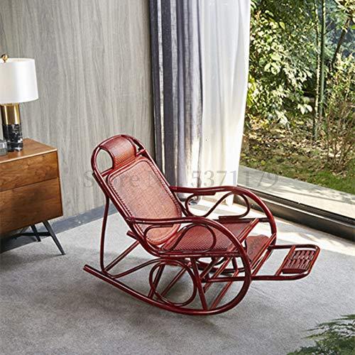 IHCIAIX silla,Mecedora de ratán de planta natural, silla de salón para adultos, silla para almuerzo, respaldo, perezoso, ocio, balcón, silla de siesta para el hogar, silla 21