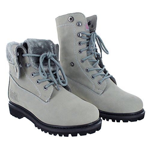 Safety Girl GS008-GRY-ST-9.5M Madison Fold-Down Work Boot - Gray Steel Toe 9.5M, English, Capacity, Volume, Leather, 9.5M, Gray ()
