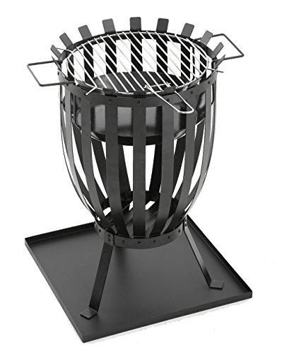 GrillChef Feuerkorb, schwarz, Ø 35,5 cm