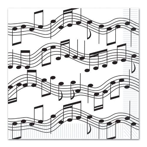 Beistle Musical Note Mittagessen Servietten (2-Ply) (16 / Pkg)