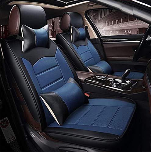 DIELIAN Mier-autostoelhoezen, kunstlederen stoelhoezen, waterdicht, ademend, 5 zitplaatsen, volledige set achterkant, geschikt voor de meeste auto's, SUV of busjes