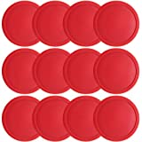 Brybelly One Dozen Large 3 1/4 inch Red Air Hockey Pucks for Full Size...