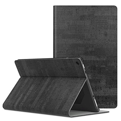 MoKo Hülle für Das Neue Amazon Fire HD 10 Tablet (9. Gen 2019 und 7. Gen 2017 Model), Stoßfest Ledertasche Schutzhülle mit Standfunktion & PC Bumper für Fire HD 10,1