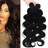MY-LADY Extension Capelli Veri Tessitura Mossi 55cm 3 Bundles 300g/pack Remy Human Hair Ondulati Extension Matassa Lunghi Naturali Umani