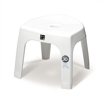 トンボ 風呂イス 半円型 日本製 幅36×奥行30×高さ31.5cm 抗菌 ホワイト 新輝合成 G30