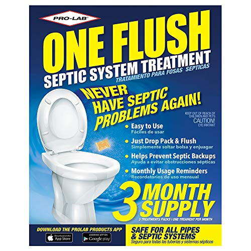 Septic Tank Treatment - 3 Month Supply Of Septic Treatment- Dissolvable Septic Tank Treatment Packets - Use Septic Treatment Enzymes Packets Monthly To Prevent Expensive Septic Tank Backups