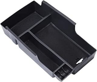 QianBao Center Console Organizer Insert ABS Black Materials Tray Armrest Storage Box Fit for Toyota Camry 2012 2013 2014 2015 2016 2017