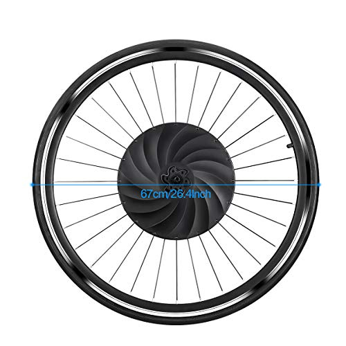 YUNZHILUN Ruota,Ruota Bici elettrica 700c,Bicicletta Ruota,Anteriore Elettrico,Bluetooth 4.0 per Android iOS