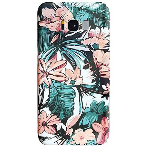 MoreChioce kompatibel mit Samsung Galaxy S8 Plus Hülle,Galaxy S8 Plus Handyhülle Silikon,Kreativ Leuchtend Blume #1 Muster Transparent Kratzfest TPU Crystal Schutzhülle Tasche Protective Bumper