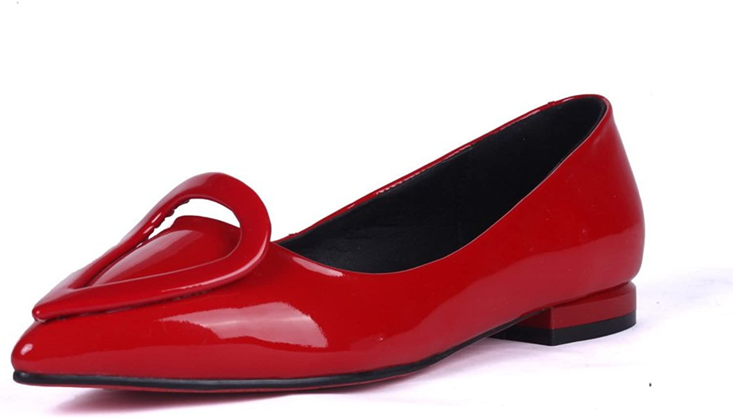 1TO9 Womens Low-Cut Uppers Dance-Modern Solid Red Patent Leather Pumps-shoes - 4.5 B(M) US