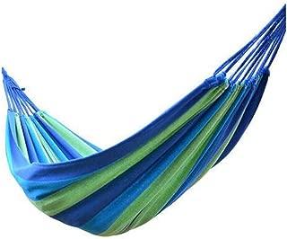 Activity&Entertainment Swings Portable 150 kg Load-Bearing Outdoor Garden Hammock Hang Bed Travel Camping Swing Survival Outdoor Sleeping Swings (Color : Blue)