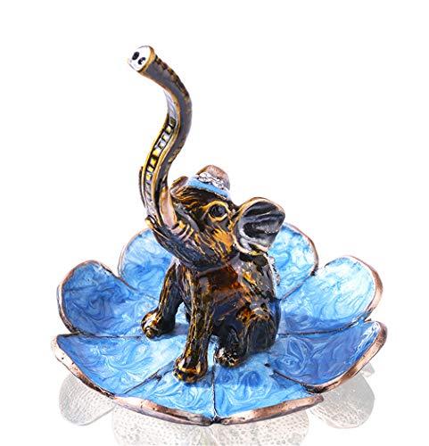 prbll Soporte Decorativo De Joyería De Elefante, Soporte De Tablero De Anillo De Exhibición De Baratija De Boda, 3.3 * 3.3 Pulgadas