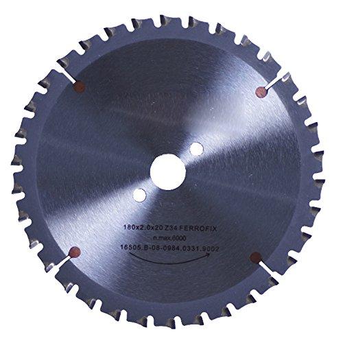 Connex COM362103 Handkreissägeblatt, hartmetallbestückt, Ferroline-Präzisionsausführung, 210 x 30 mm, 40 Zähne