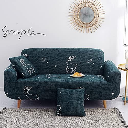 ASCV Sofabezug für Wohnzimmer Elastizität rutschfeste Couch Schonbezug Universal Spandex Case für Stretch Sofabezug A9 4-Sitzer
