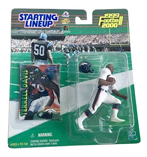 Starting Lineup Terrell Davis Figure with Trading Card 1999 NFL Football Denver Broncos