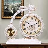 Tauzveok Reloj De Mesa Decorativo Reloj Sobremesa Mesa Modelo Rack Motocicleta Vintage Reloj Escritorio Retro con Termómetro Y Base Padres Amigos Niños Regalo Más Preciado,F