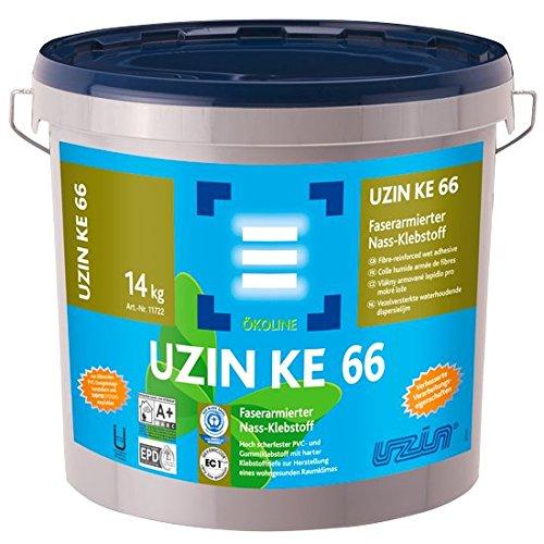 UZIN KE 66 Faserarmierter Vinyl, PVC- und Gummiklebstoff / Kleber 14Kg Eimer