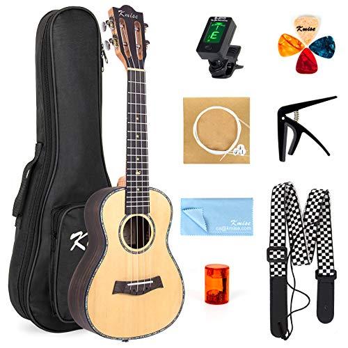 Ukulele 23 Inch Concert Ukelele Hawaii Guitar Classical Type Uke Solid Spruce From Kmise (Classical Ukulele Kit)