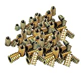 100PCS Tuercas de Insertar Hexagonal Roscado, Rosca Hex Socket, M4 M5 M6 M8 Aleación Zinc Insertos de Rosca, para Muebles de Madera