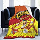 Cozy Flannel Bed Blanket Soft Throw Blanket Fit Couch Sofa Car Beach Travel Picnic Camping Suitable for All Season 50' x40